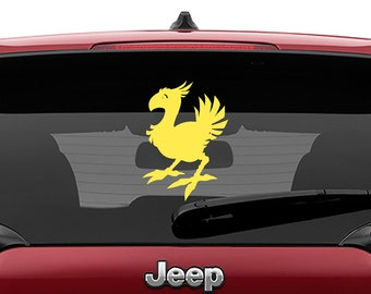 Final Fantasy Chocobo Vinyl Decal | Final Fantasy Chocobo Tumbler Decals | Final Fantasy Chocobo  Laptop Decal