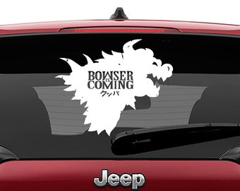 Game of Thrones Parody Mario Bros Bowser is Coming Vinyl Decal