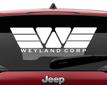 Weyland Corporation Logo Vinyl Decal | Weyland Corporation Tumbler Decals | Weyland Corporation Laptop Decal