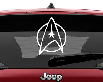 Star Trek Classic Starfleet Logo Decal | Star Trek Classic Starfleet Symbol Tumbler Decal | Star Trek Classic Starfleet Laptop Decal