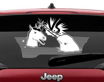 Unicorn vs Norwal Laptop Decal | Unicorn vs Norwal Car Decal | Unicorn vs Norwal Tumbler Decal