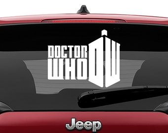Doctor Who DW Logo Vinyl Decal | Doctor Who DW Logo Tumbler Decals | Doctor Who DW Logo Laptop Decal
