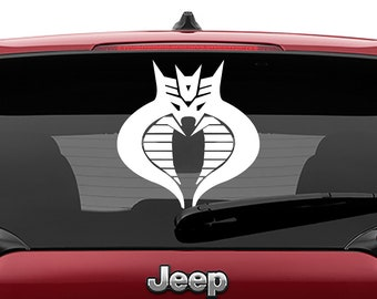 GI Joe Cobra Command Transformers Decepticon Amalgam Logo Vinyl Decal Sticker Car Laptop