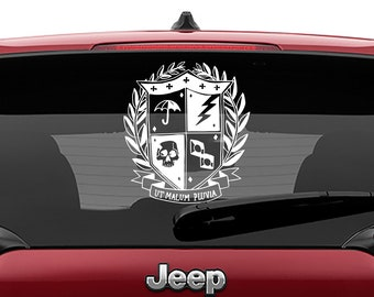 Umbrella Academy Crest Decal | Umbrella Vinyl Sticker Decal | Umbrella Academy Crest Comic Book Sticker