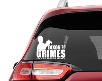 Walking Dead Inspired Dixon Grimes 2020 For President Vinyl Decal