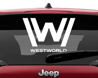 Westworld Logo Decal   Westworld Logo Tumbler Decal   Westworld Logo Laptop Decal