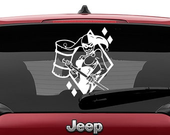 Classic Harley Quinn With Hammer Decal | Harley Quinn Tumbler Decal | Classic Harley Quinn Laptop Decal