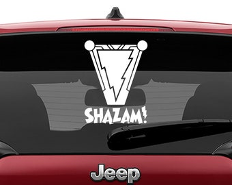 Shazam Movie Vinyl Decal | Shazam Logo Tumbler Decals | Shazam Logo Decal