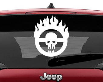 Mad Max Fury Road Skull Decal | Mad Max Fury Road Skull Tumbler Decal | Mad Max Fury Road Skull Laptop Decal