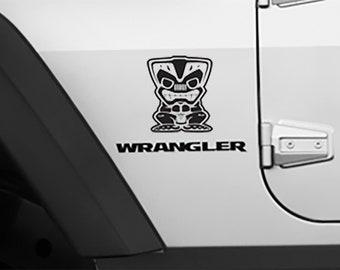 Tiki Bob Fender Side Decal Jeep Wrangler Vinyl Decal 1 pair