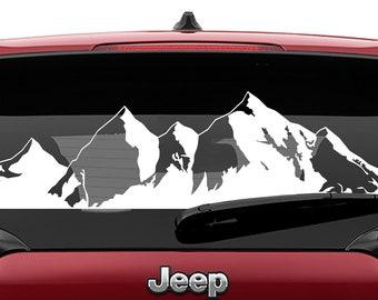Mountain Range Vinyl Decal   Mountain Range  Tumbler Decal   Mountain Range Laptop Decal