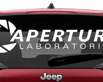 Aperture Laboratories Vinyl Decal | Aperture Laboratories Tumbler Decals | Aperture Logo Decal