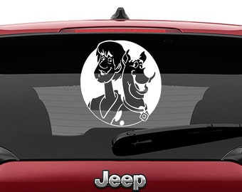 Scooby Doo Shaggy & Scooby Decal | Shaggy and Scooby Tumbler Decal | Shaggy and Scooby Laptop Decal