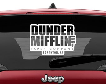 The Office Inspired Dunder Mifflin Inc Paper Company Vinyl Decal