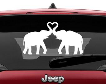 Elephant Heart Vinyl Decal | Elephant Heart Tumbler Decals | Elephant Heart Laptop Decal