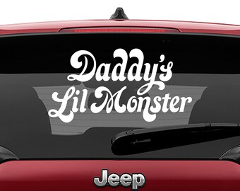 Daddy's Lil Monster Vinyl Decal | Squad Squad Tumbler Decals | Daddy's Lil Monster Laptop Decal