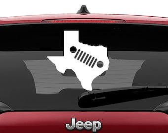 Jeep Grill State Silhouette Vinyl Decal | 50 State Jeep Grille Silhouette Yeti Sticker | Jeep Grill State Silhouette Laptop Vinyl Decal