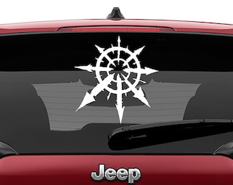 Warhammer 40K The Chaos Star of Chaos Undivided Vinyl Decal