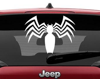 Spider-man Venom Vinyl Decal | Spider-Man Venom Logo Tumbler Decals | Venom Movie Logo Decal