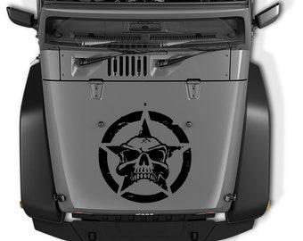 Jeep Wrangler Oscar Mike Army Star With Skull Vinyl Decal