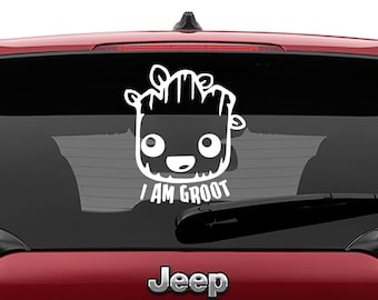 I Am Groot Decal Sticker - Guardians of the Galaxy Decal Sticker - Laptop Sticker - Car Truck Vinyl Decal