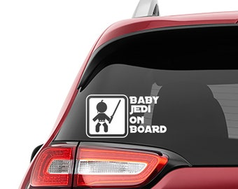 Star Wars Inspired Baby Jedi On Board Car Window Vinyl Decal