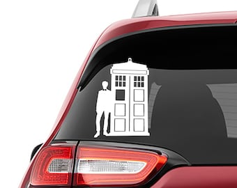 Dr Who 11th Doctor Matt Smith With Tardis Vinyl Decal