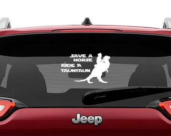 Star Wars Inspired Save a Horse Ride a Tauntaun Vinyl Decal