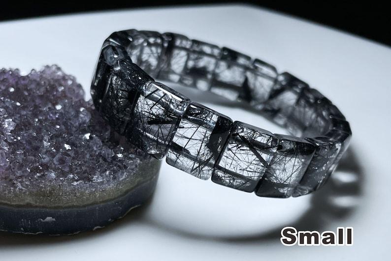 \u6536\u85cf\u7ea7\u786c\u53d1\u9ed1\u53d1\u6676\u624b\u724c Natural Top Grade Black Rutilated Quartz bracelet Genuine Black Rutilated Quartz Bangle Bracelet
