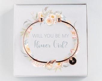 flower girl proposal bracelet
