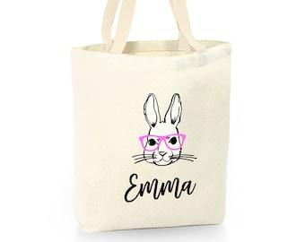 personalized Easter bag rabbit bag Easter bag canvas bag canvas Easter bag bunny bag Easter canvas bag Easter treat bag