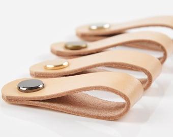 Leather Drawer Pulls | Etsy