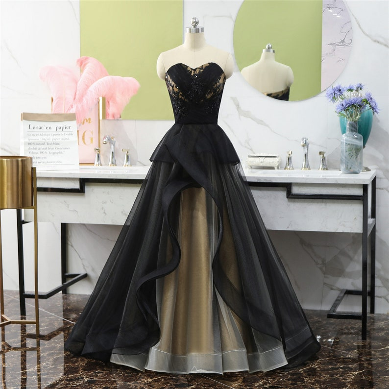 cfe5a1a18013b 2019 Prom Dresses Long Black Evening Dresses Wedding Party Guest Dress  Formal Gown