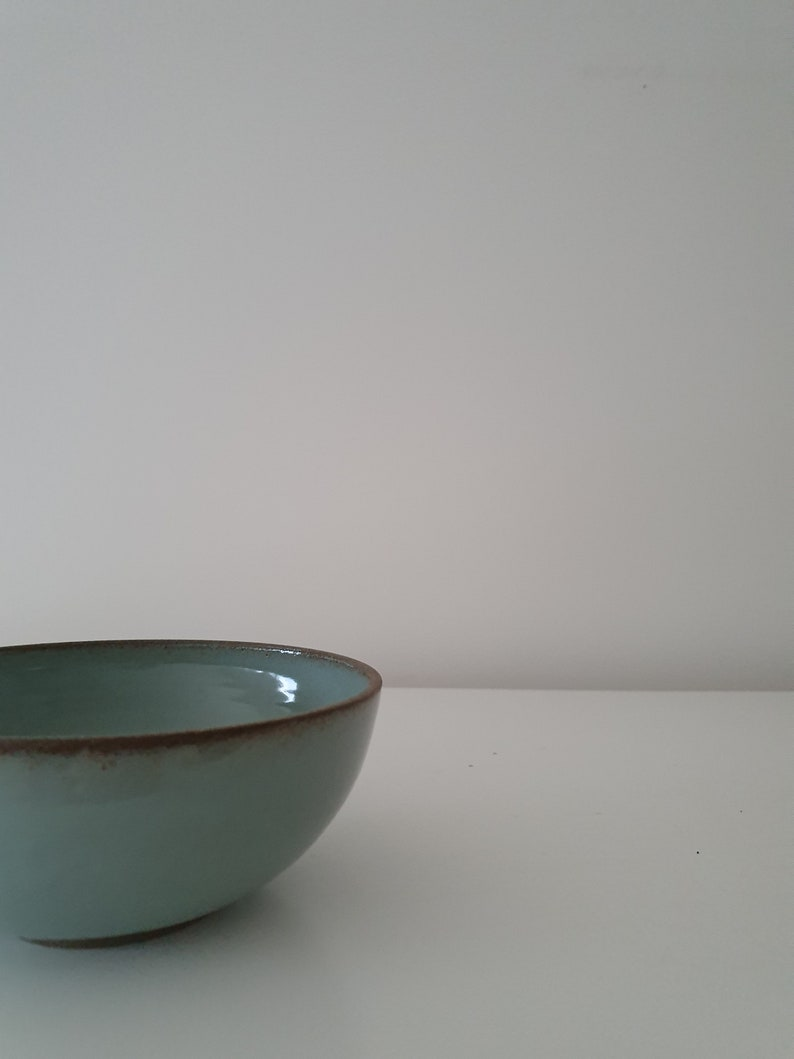 Cereal Bowl Handmade Ceramic Bowl Set of 2 Turquoise Pottery Soup Bowl