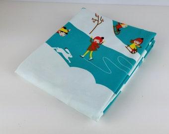 Jersey fabric, snowscape
