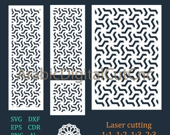Cnc files,decorative screen,panels. Arabic geometric laser cutting templates, digital pattern set. DXF,CDR,SVG,Eps,Png, Al (21 files).