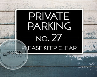 Custom Private Parking Sign | Metal Parking Sign | Keep Clear | Personalised Metal Sign | Custom Street Sign | Traffic Sign | Road Sign |