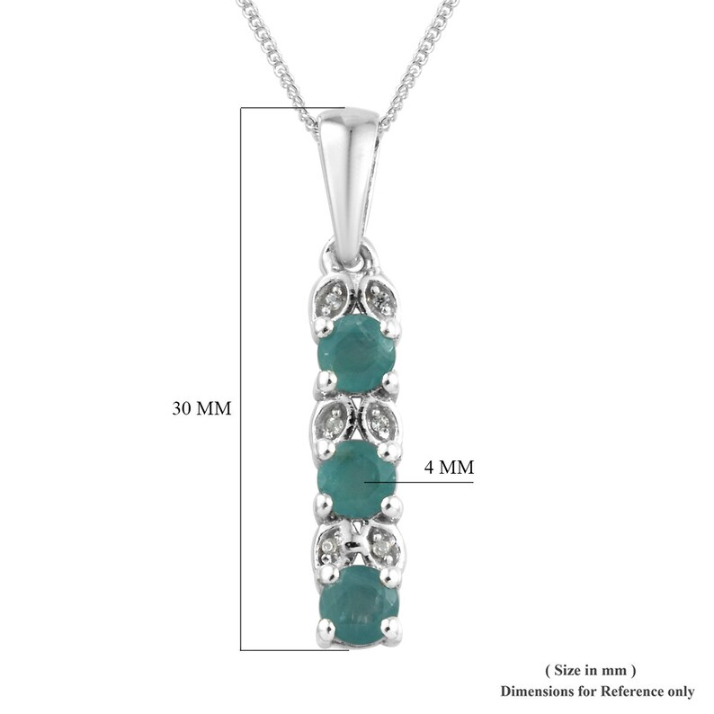 Grandidierite Jewellery Grandidierite Zircon Jewellery Silver Jewellery Zircon Sterling Silver Pendant Necklace Pendants TGW 0.81 cts