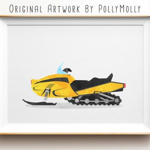Wall Decal Snowmobile Speed Snow Winter Extreme Sport Unique Decal caig2286