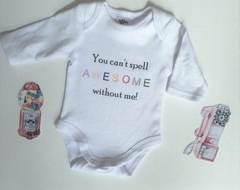 df96eabdb Taylor Swift onesie - You can't spell awesome without me - Baby onesie -  Baby shower gift - Baby Sprinkle