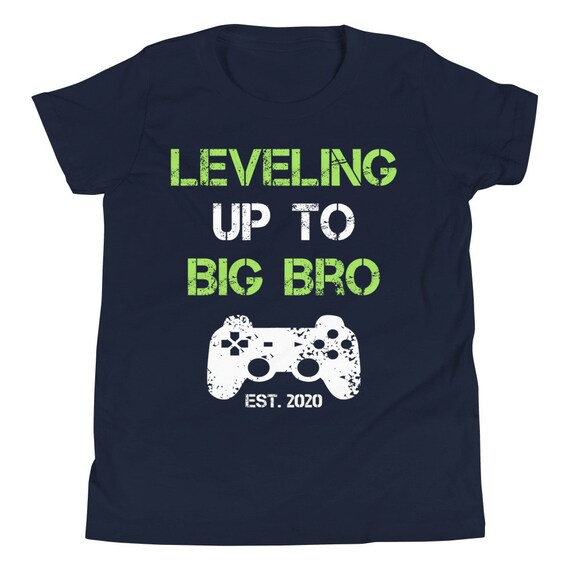 PERSONALISED LEVELED UP TO BIG BROTHER  T-SHIRT CHILDRENS KIDS TSHIRT TOP GIFT