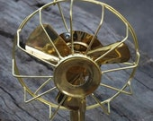 Vintage Fully Brass Electric Fan With 3 blades Collectible Working Table Fan