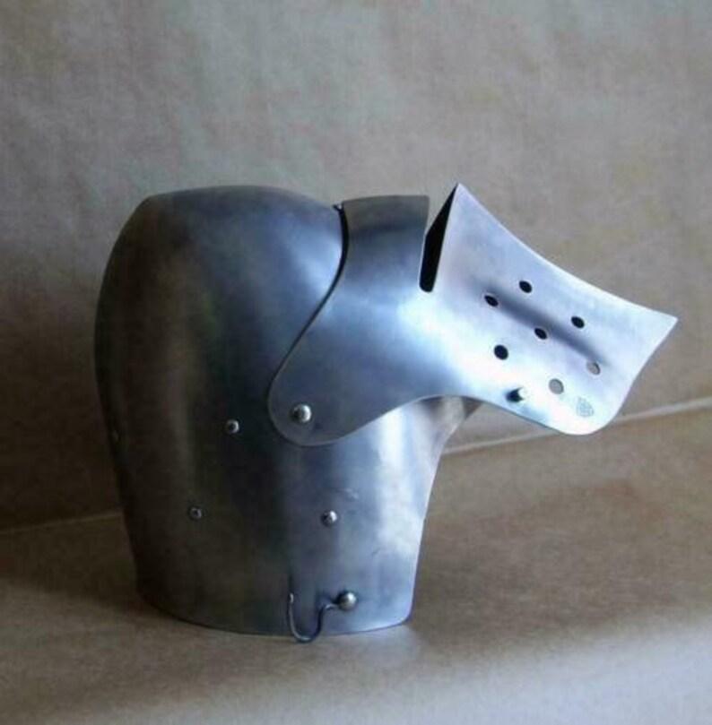 Medieval Combat Helmet Knight Great Bascinet Kettle Armor Halloween Costumes