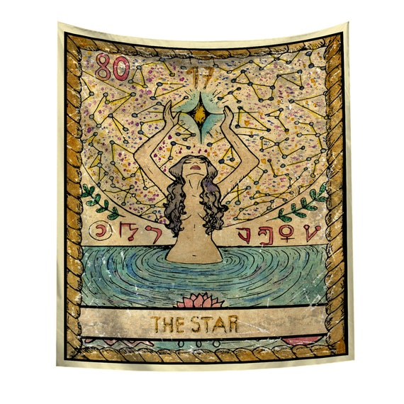 Tarot Tapestry The Star Wall Hanging Tapestry Art Wall Blankets Wall Decor USA