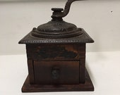 Antique The Strobridge Co Coffee Mill Grinder Cast Iron Dovetail Joints
