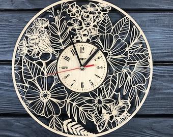 Wall clocks,Gift for Home,Unique wall clock,Wood clock,Modern wall clocks,Large wall clock,Hanging Wall Clock,Rustic wall clocks