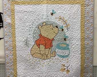 Winnie the Pooh Lap Quilt or Wall Hanging