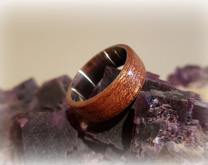 Bentwood Ring - Figured Mahogany on titanium ring core