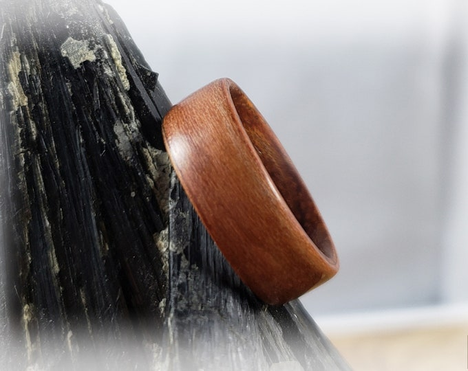 Bentwood Ring - Plum Wood on Rosewood ring core