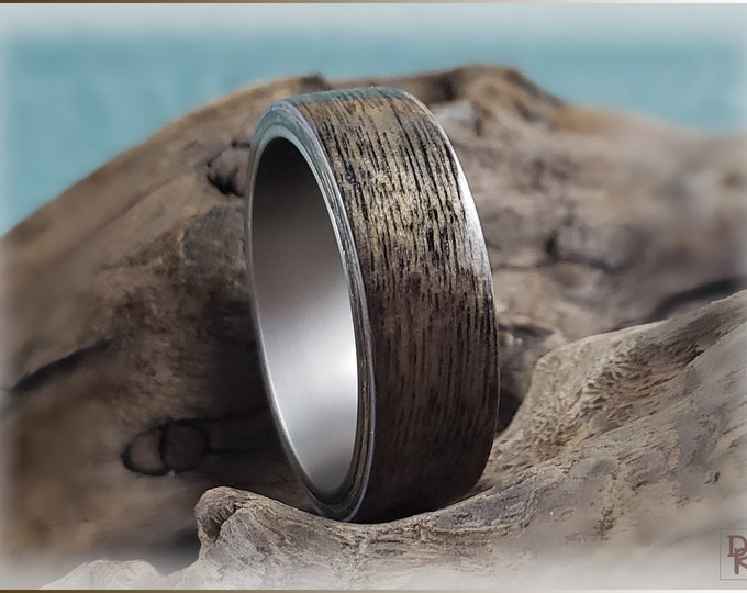Bentwood Ring - Harborica - titanium ring core.